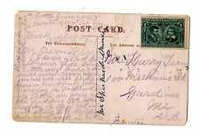 Canada 1908 Postcard Seaforth Highlanders To Montana Postal History X5696