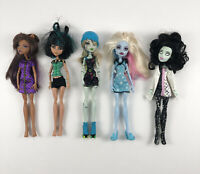 Monster High Lot 5 Dolls Clawdeen Abbey Bominable Scarah Frainkie Cleo De Nile