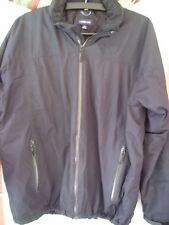 LANDS END ADULT PUFFER INSULATED HOOD BLACK WINTER JACKET XLG 46-48 V NICE CLEAN