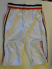 NOS Vtg 80s Wilson Men's Baseball Pants Size 32 White Orange Black Stripes USA