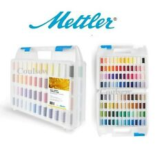 Mettler Embroidery Thread box Set Poly Sheen 96 Colours Perfect Gift Carry Case