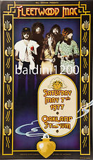 FLEETWOOD MAC * HIGH QUALITY EARLY VINTAGE 1977 CONCERT POSTER *