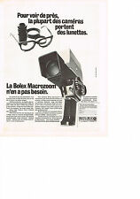 PUBLICITE  1971   BOLEX MACROZOOM  caméra