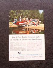 L918- Advertising Pubblicità -1960- MOTORI FUORIBORDO EVINRUDE 1960