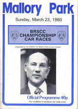 Mallory Park BRSCC Championship Races original Official Programme 23rd Mar 1980