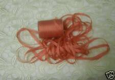 EMBROIDERY RIBBON 100%SILK PERSIMMON 4MM  20 YDs