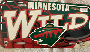 Minnesota WILD NHL hockey team Hard Flexible Plastic License Plate, made in USA