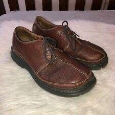 HUMMER Mens Brown Leather Lace Moccasin Shoes Sz 10M