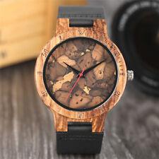 KORTEX Kork Armbanduhr von KOKO Korkuhr mit Lederband Quarz Analog Neu Uhr