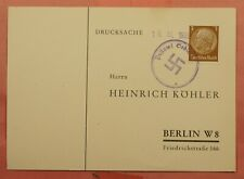 DR WHO 1938 GERMANY SPECIAL CANCEL PC 147811