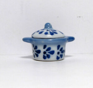Ceramic dollhouse cookware with lid 1:12 Dollhouse mini Kitchen-Bright Delights