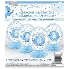 BABY SHOWER BLUE TABLE DECORATIONS - Honeycomb, Cascade, Confetti, Boy, Blue