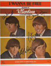 THE MONKEES Signed Sheet Music Cover - Pop Band / Group Stars - preprint