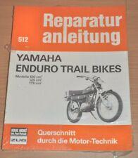 YAMAHA Trail Bikes Enduro 100 125 175ccm Motor Bremsen Reparaturanleitung B512