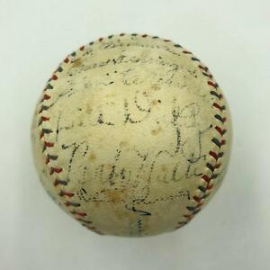 1933 Inaugural All Star Game Signed Baseball Babe Ruth Lou Gehrig 21 Sigs PSA