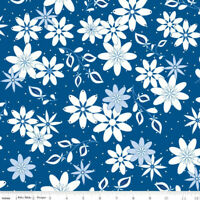 Conservatory Main Dark Blue by Jill Finley of Jillily Studio for Riley Blake Des