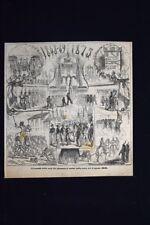 Trasporto delle ossa dei piemontesi caduti il 4 agosto 1848 Incisione del 1875