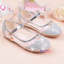 New Summer Spring Kids Young Girls Transparent Shoes Sandals Princess Rhinestone
