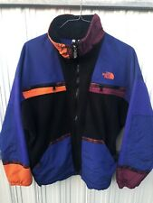 Vintage The North Face Rage Color Block Fleece Aztec Print Jacket Small