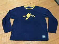 Xl - Vtg 90s Polo Sport Ralph Lauren Winged Shoe Long Sleeve Jersey Shirt