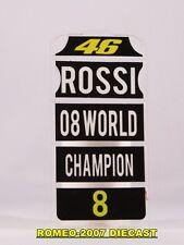 1:12 Pit board pitboards Valentino Rossi 2008 World Champion no minichamps RARE