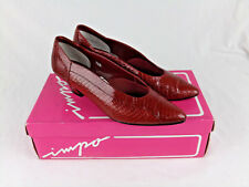 Impo Women Red Snake Skin Heel Size 7 AA Casual Dress Business Shoes GUC