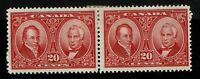 Canada SC# 148, Pair, Mint Hinged, Large Hinge Remnant - S2697