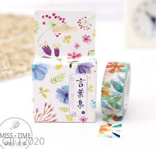 Colored leaves Paper Sticky Adhesive Sticker Decorative Washi Masking Tape