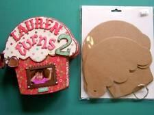 "Bare Chipboard Cupcake Shaped Album 7"" x 7"" - 6 Pgs. W/Accessories"