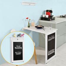 SoBuy®Mesa plegable de pared,escritorio,con pizarra frontal,blanco,FWT20-W,ES