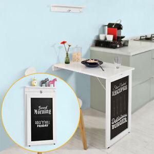 SoBuy Mesa plegable de pared Escritorio con Pizarra Frontal Blanco FWT20-W,ES