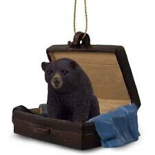 Bear Black Suitcase Ornament