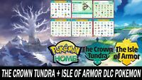 The Crown Tundra & The Isle of Armor DLC Pokemon Pack All Shiny Pokemon!!