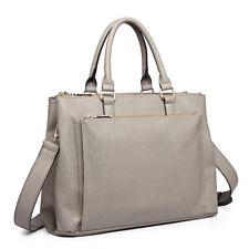 Women Designer PU Leather Briefcase Handbag Tote Shoulder Laptop Large Bag