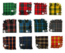 New Scottish Highland Kilt Fly Plaids 48''x 48' Various Tartans Purled Fringe.