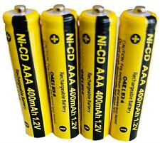 4 x AAA Rechargable Batterys 1.2V 400mAh Triple A Electronic Devices Phones Toys