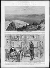 1898 Antique Print - CHINA CRISIS Kiautschou Bay German occupation Tsingtan (97)