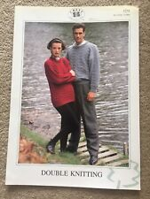 "Chevy Collection DK Knitting Pattern 1231 Ladies & Gents Jumper/sweater 32""-44"""