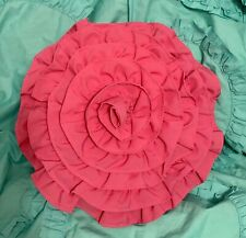 HOT PINK 3D ROUND FLOWER THROW ACCENT  PILLOW from Target- PrEtTy! EUC