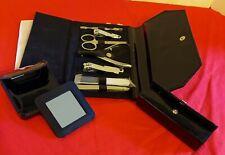 New listing New Bath & Body Works Manicure Pedicure Kit, Lipstick Case, Travel Mirror Black