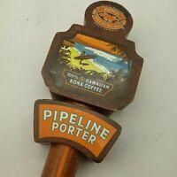 Tap Handle Kona Brewing Co Pipeline Porter Beer keg pint Hawaiian Coffee 11 in