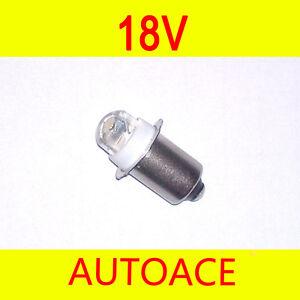 LED Torch Work Light Bulb 18V for Bosch Roybi Milwaukee DeWalt Fishing Hiking OZ