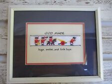 Needle Art of The Old World Framed Needlework Numbered God Made...Little Boys