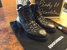 Dsquared2 Mens Whistler Lace Up Leather Ankle Boots Casual Boots.NEW.