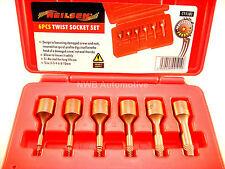 Allen, Hex, Torx Bolt Remover, 6 Piece Set, Grip Twist Bits, 2, 3, 4, 6, 8, 10mm