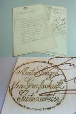 2 Dokumente 1846/53 WIENER NEUSTADT / GUTENSTEIN über Grundstücke in SCHWARZAU