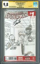 Amazing Spider-man 1 CGC SS 9.8 blank sketch by Jay Fosgitt signed Stan Lee
