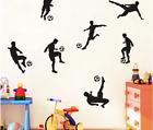 Football Wall Stickers Black Sport Boy Wall Decals 57cm X 57cm Home Decoration