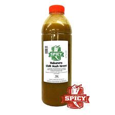 Chilli Sauce - Green Habanero Chilli Pepper Mash. 1ltr Perfect for sauce making