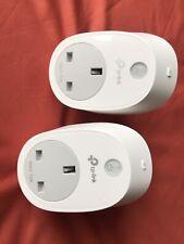 TWO TP-Link Kasa Smart Wi-Fi PlugS HS100 UK